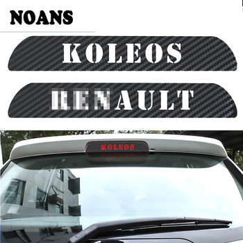 NOANS Car Styling Black Carbon Fiber High Brake Light Stickers Decoration Decal For Renault KOLEOS 2009-2016 Accessories image