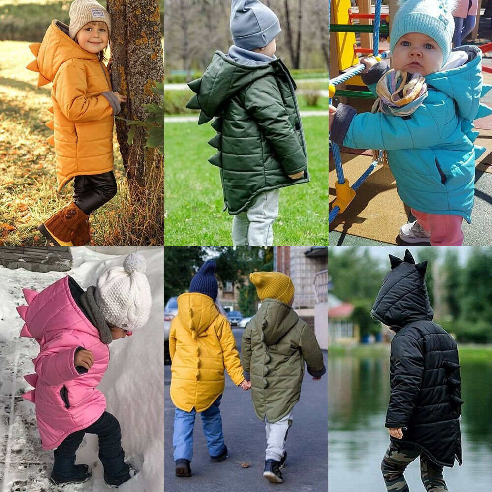 TheRang Chlidren Boys Girl Winter Coats Jacket Kids ZipThick Ears Cartoon Hoodie Clothes