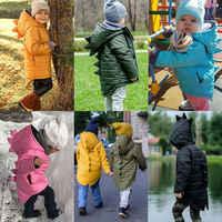1-7T Kinder Kleinkind Baby Mädchen Jungen Hoodie Zipper Winter Dicken Mantel Warme Jacke 3D Dinosaurier Outwear Mäntel jacken