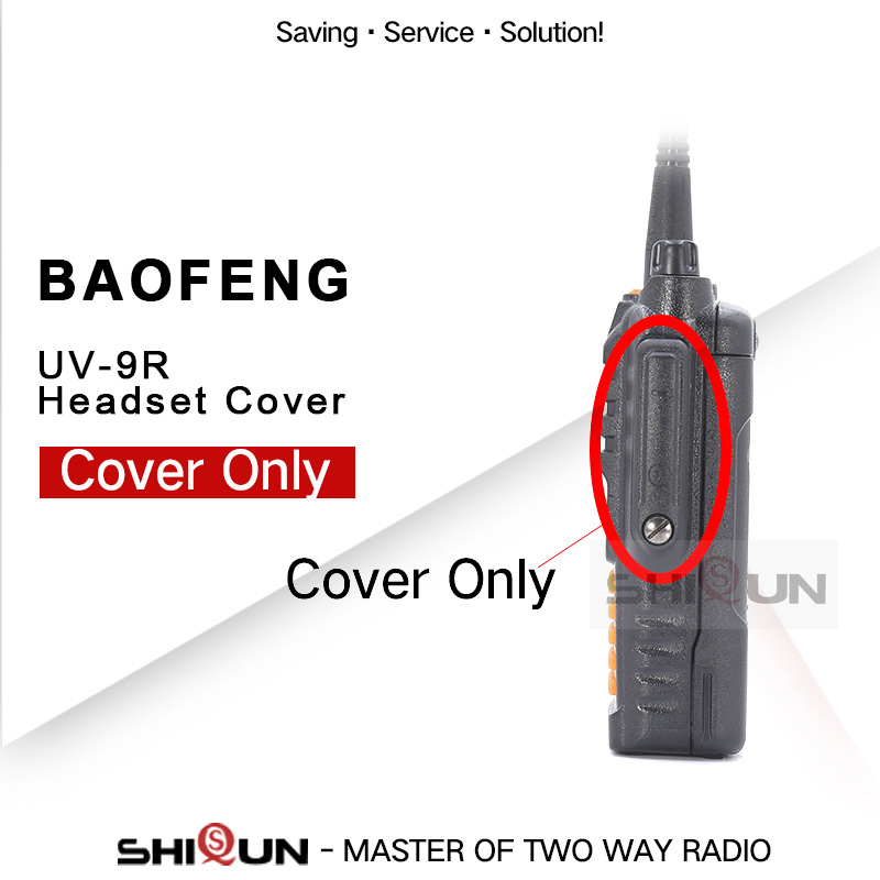 Baofeng Walkie Talkie Accessory UV9R Walkie UV-9R UV-9R Headset Mic Jack Cover Only UV-XR UV-5R WP UV-5S