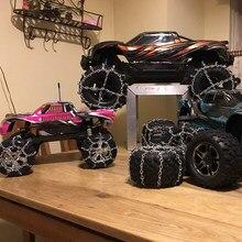 2 pièces 1.9 pouces pneus neige chaîne Interactive présent enfants Portable pour 1/10 RC roche chenille Traxxas HSP Redcat RC4WD