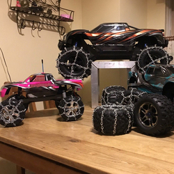 2pcs 1.9inch Tires Snow Chain Interactive Present Children Portable for 1/10 RC Rock Crawler Traxxas HSP Redcat RC4WD