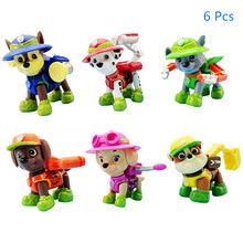 Paw Patrol Jungle Rescue Dog Cartoon Model chase Marshall Patrol Pups Anime Action Toy Figure  Child Birthday  Gift paw patrol машина спасателя chase