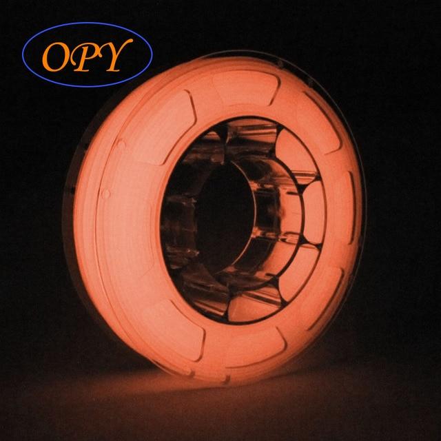 Lueur dans le Filament sombre Pla matériel 3D plastique 1.75mm imprimante lumineux marbre bois Noctilucent 1Kg