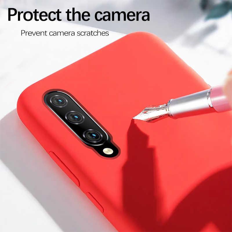 Xiaomi mi 9 funda de silicona líquida suave protección Xiaomi mi 9 Lite 8 SE 9T A3 Lite funda roja mi Note 8 7 6 5 Pro 7S 7A