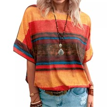 Women Print T Shirt Summer O-Neck Casual Loose Tops Tie Dye O-Neck Ladies Tops Oversized Tee Shirt Female Tops Plus Size 5XL