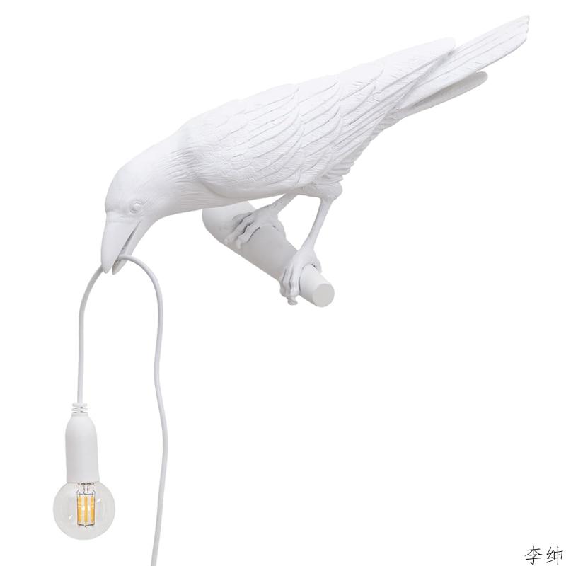 nordic passaro resina lampada de parede sala estar restaurante luz da parede moderno animais decoracao luminarias