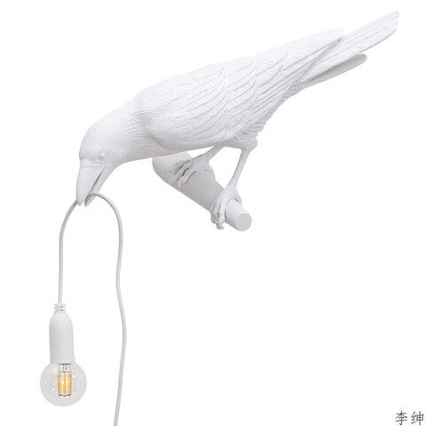 nordic passaro resina lampada de parede sala estar restaurante luz da parede moderno animais decoracao