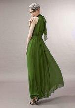 цена на Women Summer Strapless High Low Party Gowns Belt Halter Keyhole Neck Maxi Beach Bohemian Chiffon Elegant Solid Dress Mujer Robes
