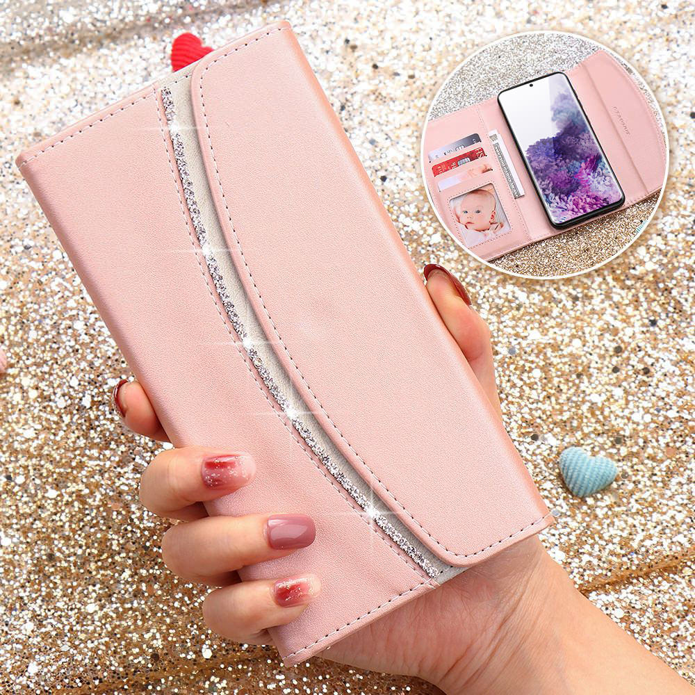 Luxury Flip Wallet <font><b>Case</b></font> For <font><b>Samsung</b></font> S20 Ultra S10 Plus S10E S8 S7 Edge Note <font><b>10</b></font> <font><b>Women</b></font> Leather Phone Bag Cover For Galaxy S9 Plus image