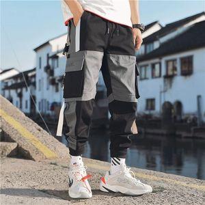 Image 2 - Мужские шаровары в стиле хип хоп, брюки для бега 2020, мужские брюки, черные штаны для бега с эластичной резинкой на талии, повседневные штаны для мужчин s Jogger