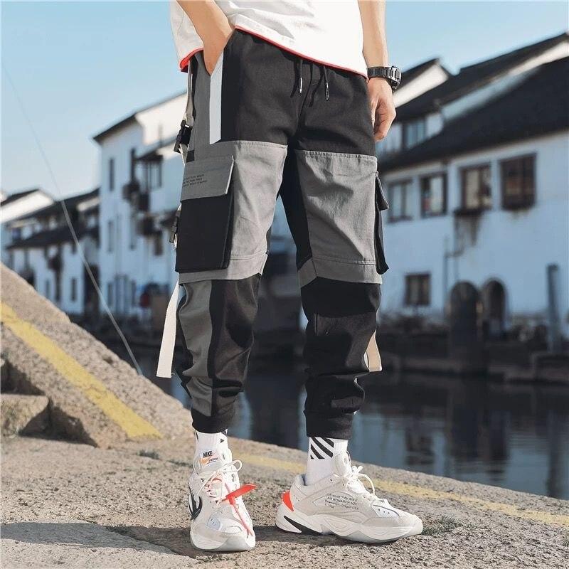 Image 2 - Hip Hop Harem Men Joggers Pants 2020 Male Trousers Black Jogger Pants  Elastic Waist Casual Pants Mens JoggerCargo Pants   -