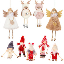 Ornaments Merry-Christmas Snowman Doll-Hang-Decorations Tree Santa-Claus for Home-Fw28