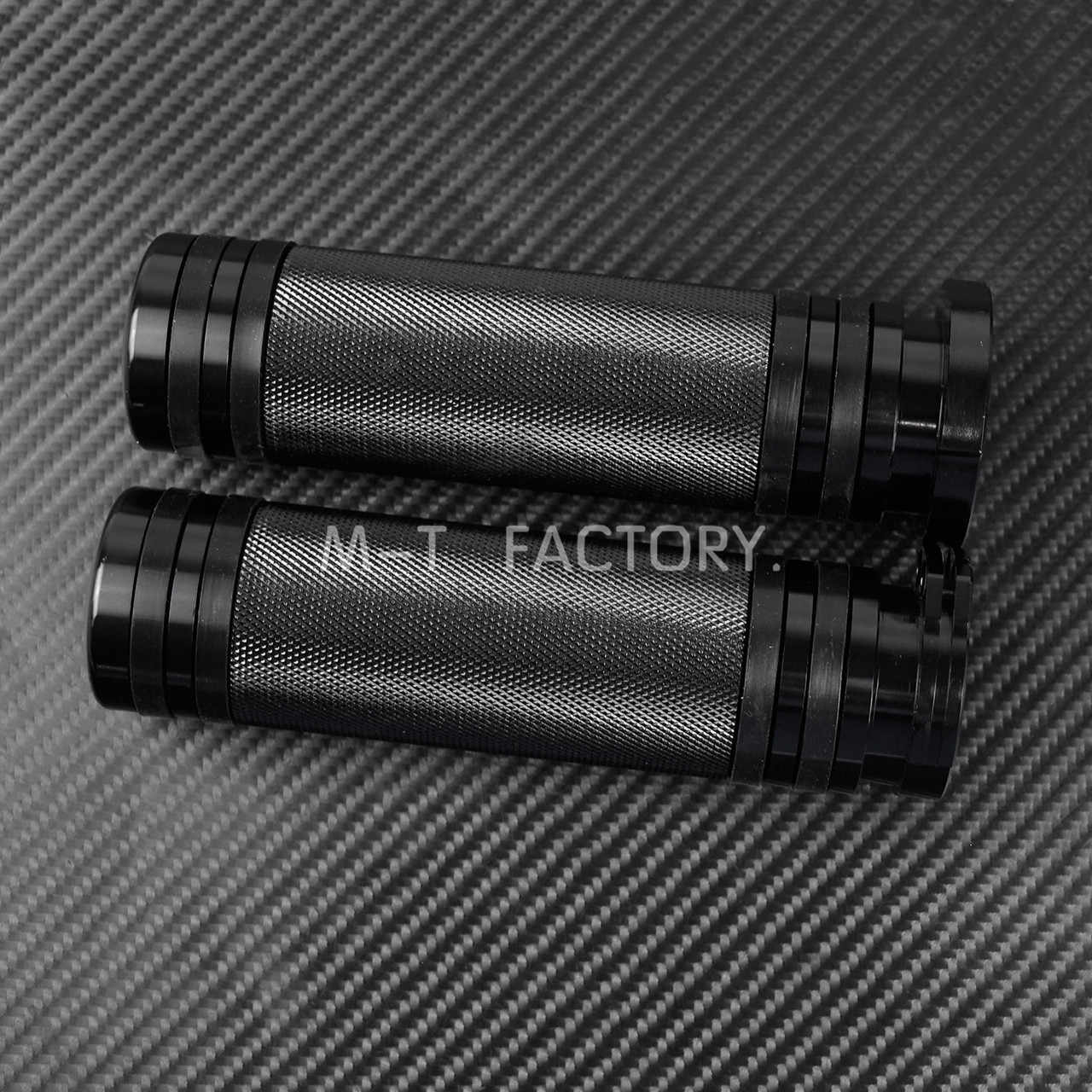 """Motocicleta preta 1 """"25mm apertos de mão alumínio para harley sportster 883 1200 xl vrsc touring dyna softail personalizado 96-up lidar com barra"""