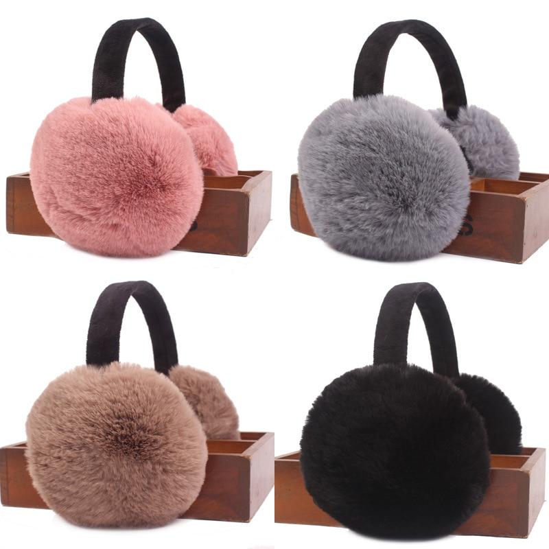 MIARA.L Foldable And Artificial Rabbit Hair Earmuff  Warm Earmuff For Women