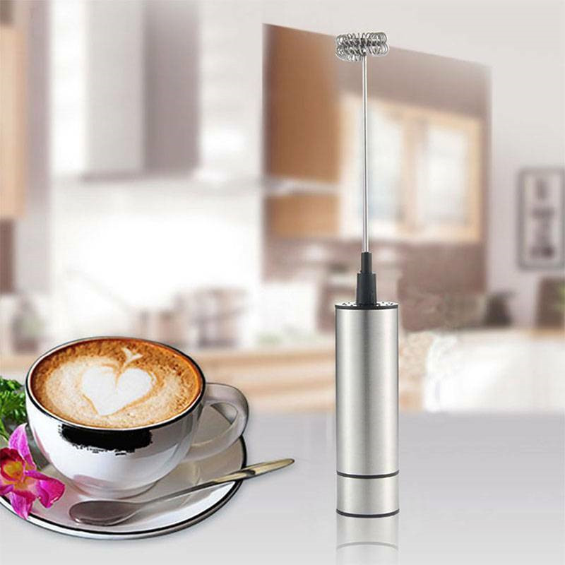 Electric Egg Beater Frother Foamer Stainless Fancy Coffee Milk Drink Coffee Whisk Mixer Frother Milk Blender Double Head