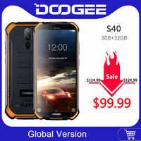 DOOGEE S40 IP68 IP69K téléphone portable 5.5 pouces affichage 4650 mAh MT6739 Quad Core 3 GB RAM 32 GB ROM Android 9.1 8.0MP caméra 4G réseau