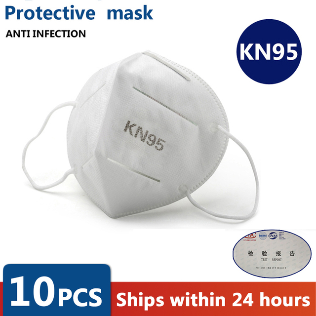 5/10/20PCS N95 Mask CE Non-woven Anti Flu AntiInfection KN95 Masks Particulate Respirator PM2.5 Same Protective as KF94