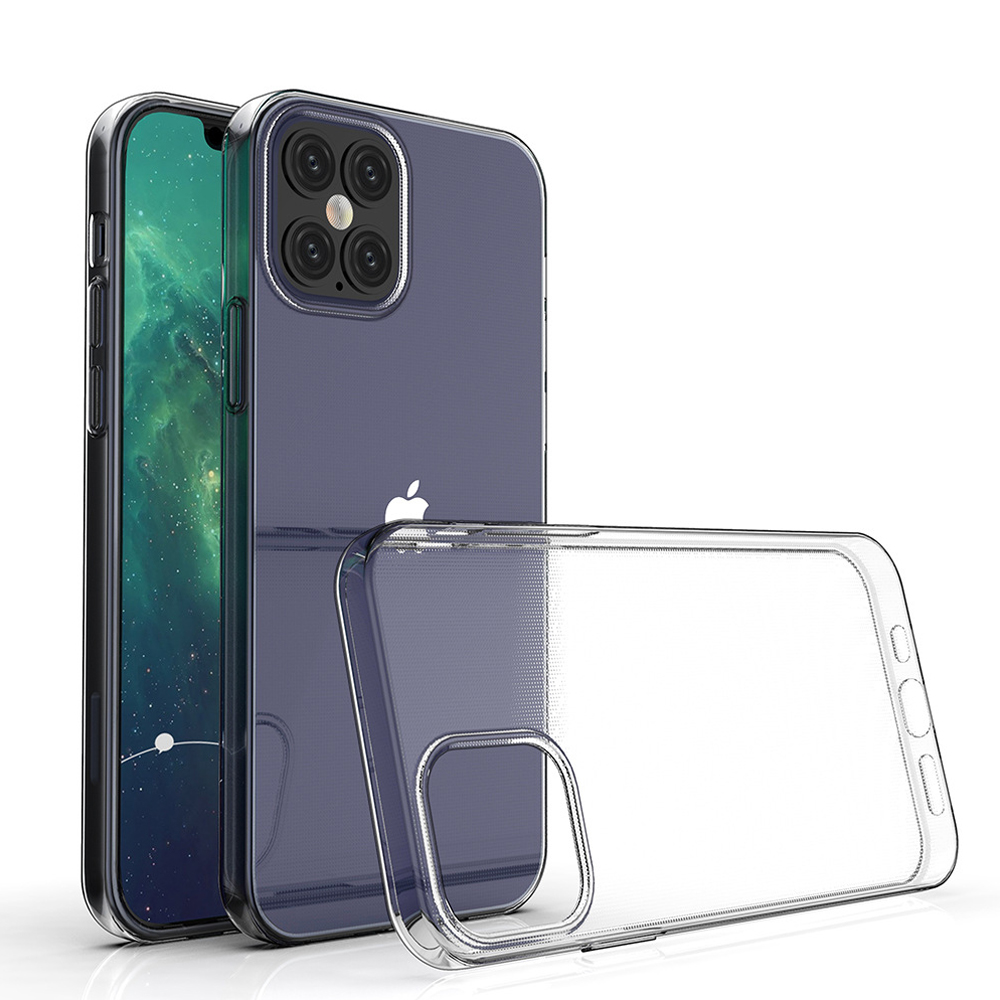 For Apple iPhone 12 Pro Max iPhone12 5G Slim Crystal Clear Transparent Soft TPU Back Case Protection Skin Camera Protect Cover