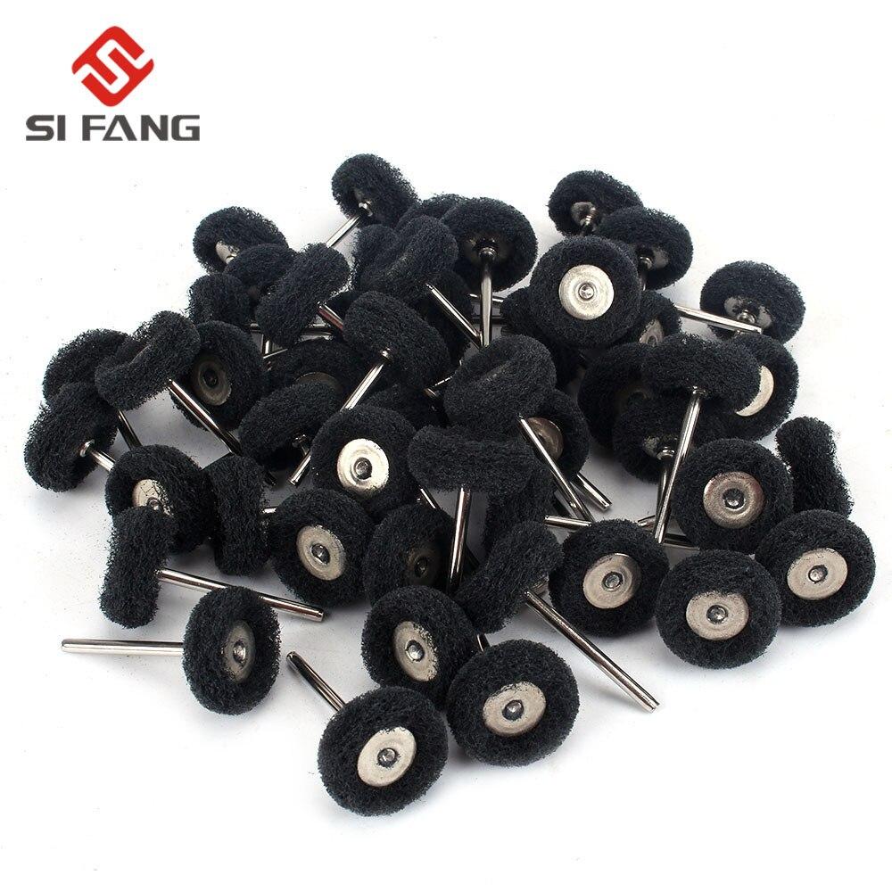 10-100pac  Abrasive Nylon Scouring Brush Fiber Grit300 Grinding Sanding Head Buffing Polishing Wheel For Dremel Grinding Tools