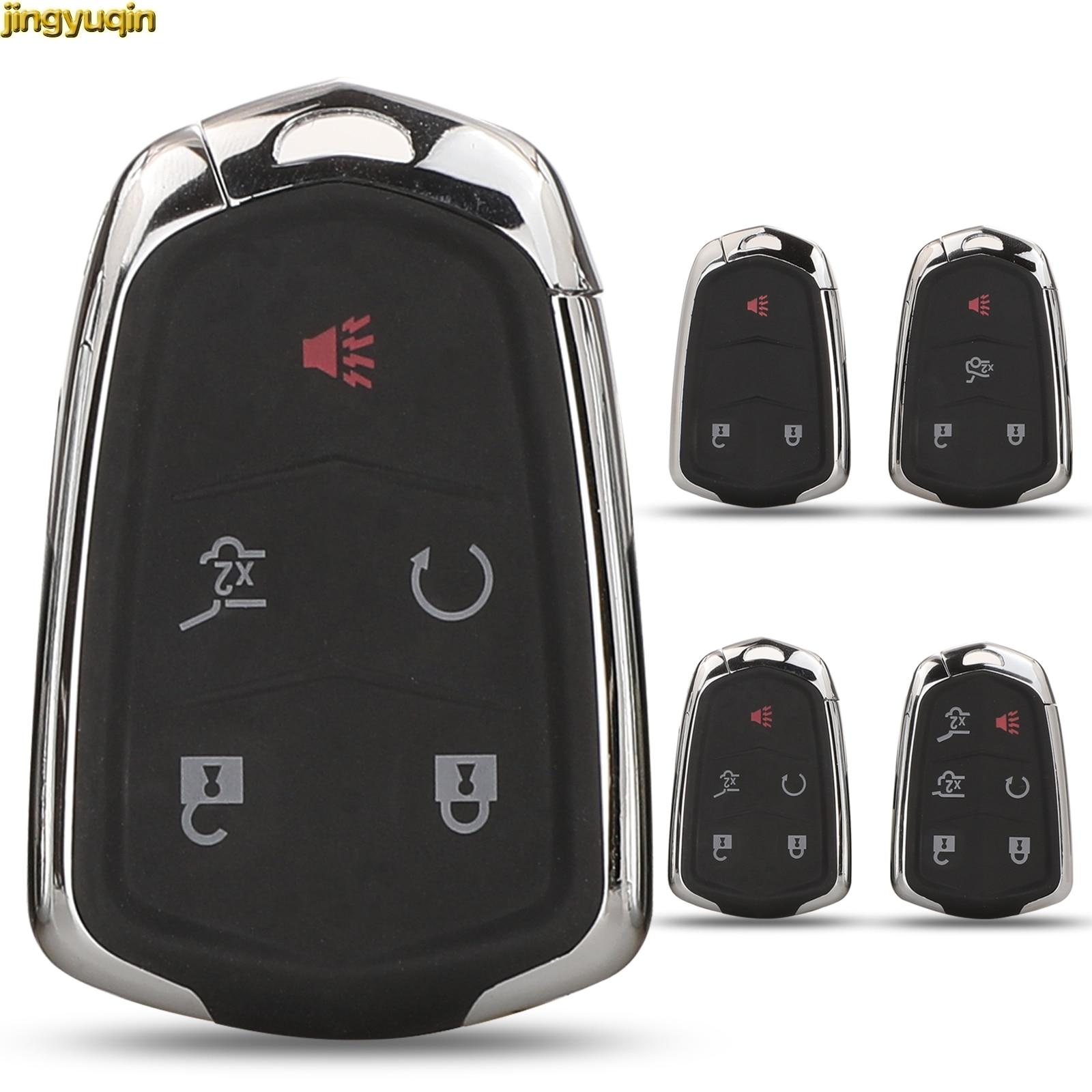 X AUTOHAUX New Car Keyless Remote Key Fob Shell Case Black HYQ2AB for Cadillac Escalade ESV 2015-2018