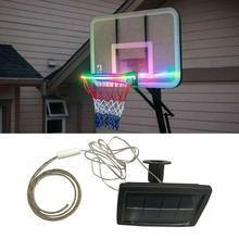 1 шт. светодиодный баскетбольное кольцо Солнечная баскетбольная оправа, играющая в ночное время, аксессуары для стрельбы