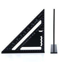 Mechanical Protractor Woodworking Tools Carpenter Joiner's Goniometer Metal With Ruler Triangular Triangle Ruler Angle Thickened