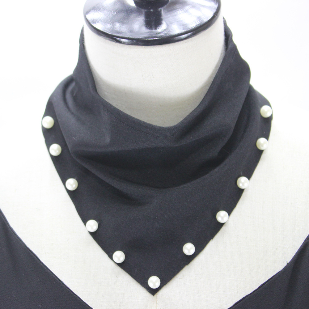 Nail Pearl Triangle Scarf Dickie Decoration High Lead Detachable Fake Collar