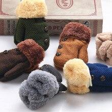 Gloves Mittens Baby-Boys-Girls Winter Children Warm Acrylic Solid SA987036 Knitting Full-Finger