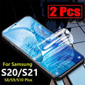 for Samsung galaxy S21 ultra Screen protector 5g s20 fe S9 S8 plus S10 e s21ultra s20fe s20plus s20ultra S21plus film 2 pcs men