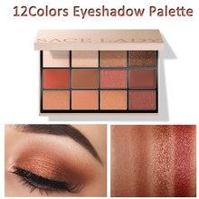 12colors Eyeshadow Palette Highly Pigmented Matte Shimmer No Fading Glittering Metallic Finishes Chic Elegant Senior Eye Makeup