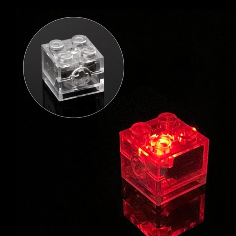 Light Brick Luminous Lamp Accessories Flash Luminous Building Blocks DIY Toys Color LED Lights DXAD