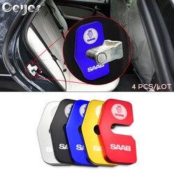 Ceyes 4 шт./лот автомобильные аксессуары автомобильное украшение и защита дверного замка чехол для Saab 93 95 1998-2009 Автомобильная наклейка Стайлин...