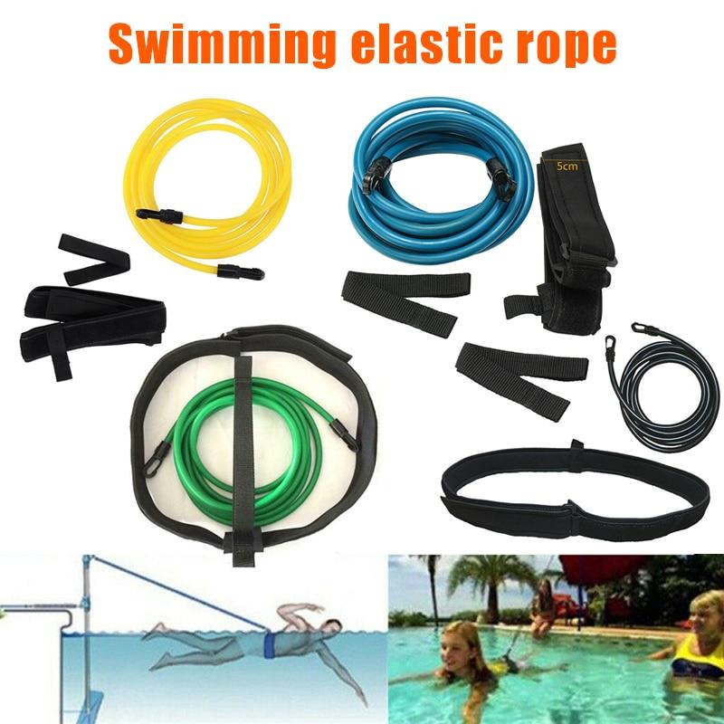 Swim Bungee Training Belt Swimming Resistance Safe Leash Exerciser Tether Tools