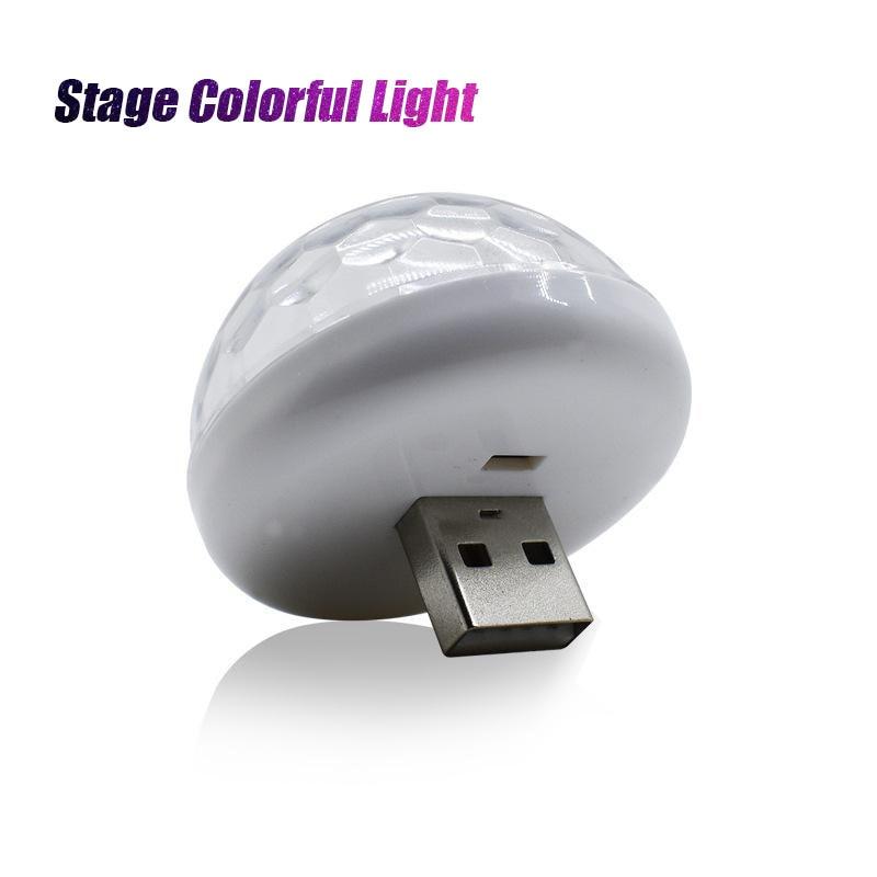 MeterMall Mini USB Charge Sound-controlled RGB Magic Ball Lamp Car DJ Stage Colorful Light