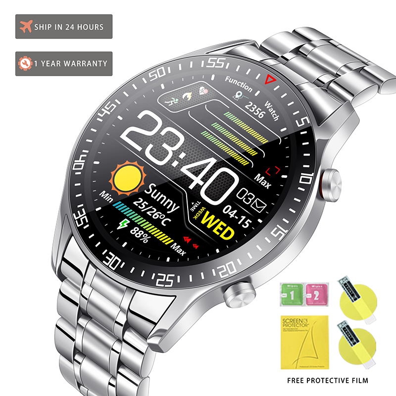 SERVO 2021 Full touch Smart Watch Sports Fitness Clock IP68 Waterproof Heart Rate Monitor Smartwatch Men for IOS Android phone