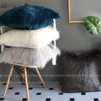 LeRadore Custom New Plush Pillowcase Soft Imitated Wool Long Furry Sofa Cushion Cover 55*55cm Pillow Cover for Sofa Home Decor