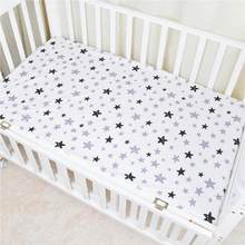 100% Cotton Crib Fitted Sheets Soft Baby Bed Mattress Covers Printed Newborn Infant Bedding Set Kids Mini Cot Sheet(China)