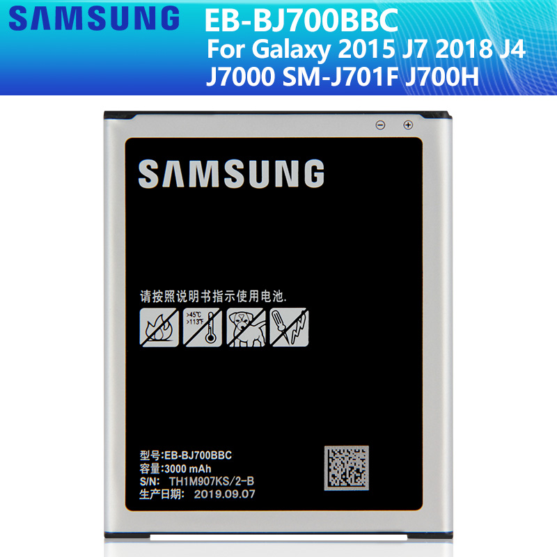 SAMSUNG Original Battery EB-BJ700CBC EB-BJ700BBC EB-BJ700CBE For Samsung GALAXY J7 2015 J4 2018 J7000 SM-J701F/DS SM-J700M J700H