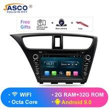 Автомагнитола с DVD плеером, Android 9,0, для Honda Civic Hatchback 2013 +, RDS, GPS, Glonass, навигация, аудио, видео, мультимедиа, Bluetooth