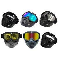 2020 New Protected Motorcycle Shark Helmet Goggles Motocross Helmet Glasses Retro Windproof Open face  Helmets Goggles Mask|Helmets| |  -
