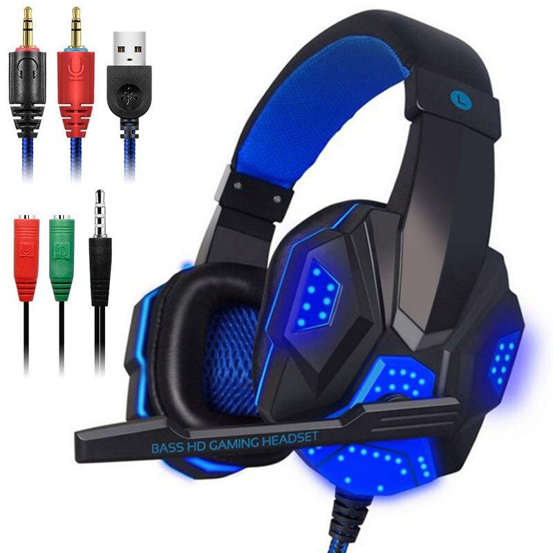 Auriculares con cable para juegos, auriculares estéreo con micrófono para PS4, nuevos auriculares para juegos de ordenador portátil Xbox PC|Auriculares y audífonos| - AliExpress