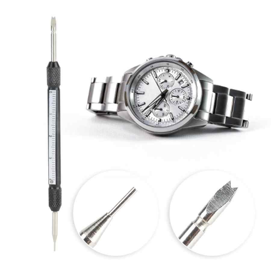 1 pieza nuevas herramientas de reparación profesionales Metal de doble punta Barra de resorte relojes correa de enlace removedor reparación herramientas de correa de reloj