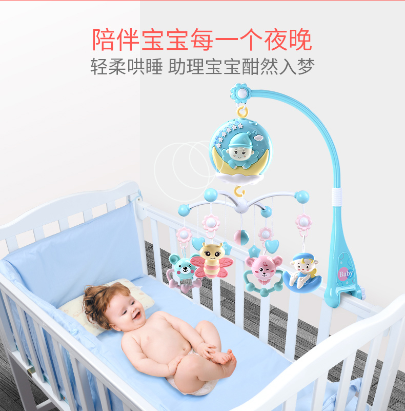 Baby Toys Educational Plastic Bed Wind Bell 0-12 Months Plastic Rattles Toy Giraffe Mobility Drum Animal Baby Music Toys AA50YL