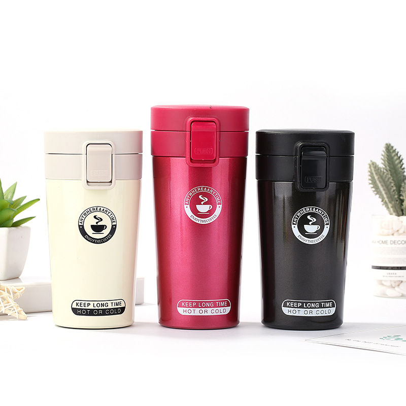 Stainless steel vacuum flask car mug coffee cup thermos for food thermos water bottle  travel coffee filter Straight Cup