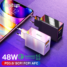 iHaitun 48W USB Charger PD Type C Quick Charge 4.0 3.0 QC Fast Mini Travel Charger For iPhone 11 Pro Max Samsung S10 Plus 30W PD ugreen 36w fast usb charger quick charge 4 0 3 0 type c pd fast charging for iphone 11 usb charger with qc 4 0 3 0 phone charger