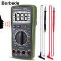 Borbede BD-19A Multimetro Digitale con la Voce Valore DC/AC Tensione Resistenza Corrente Capacità NCV Vero RMS Diodo Tester