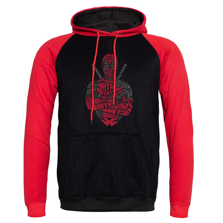 Deadpool Funny Printed Sweatshirts 2019 New Hoody Autumn Winter Streetwear Man Raglan Hooded Super Hero Hip Hop Hoodies Leisure