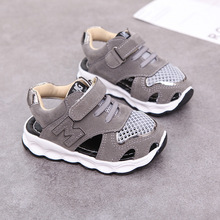 New Hook&Loop fashion kids sandals high quality breathable cute girls boys shoes Pu unisex hot sales children casual footwear new 2018 high quality fashion cool kids casual shoes hook