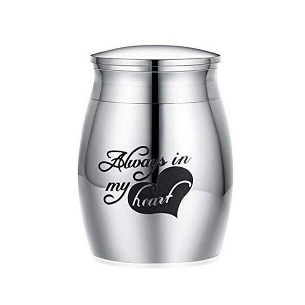 Human Ashes For Pets Memorials Stainless Steel Dog Cremation Urn Casket No Deformation Funeral Birds Cat Container Mini Small